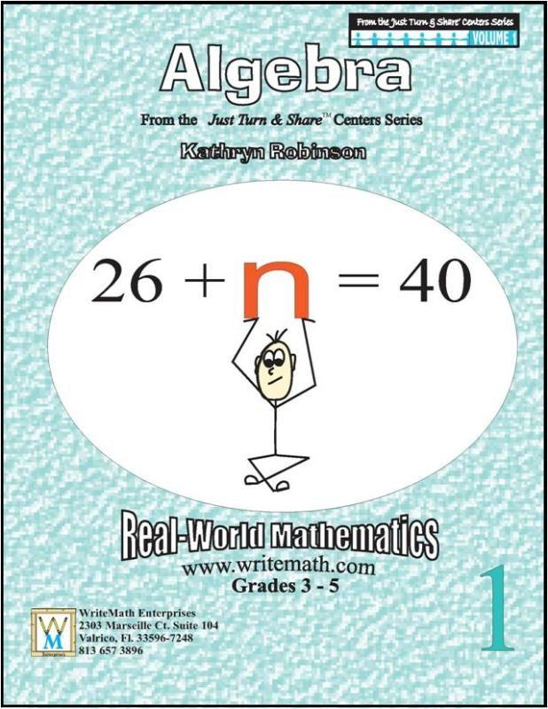 Just Turn Share Algebra 3rd 4th 5th Grade 3rd Grade Math
