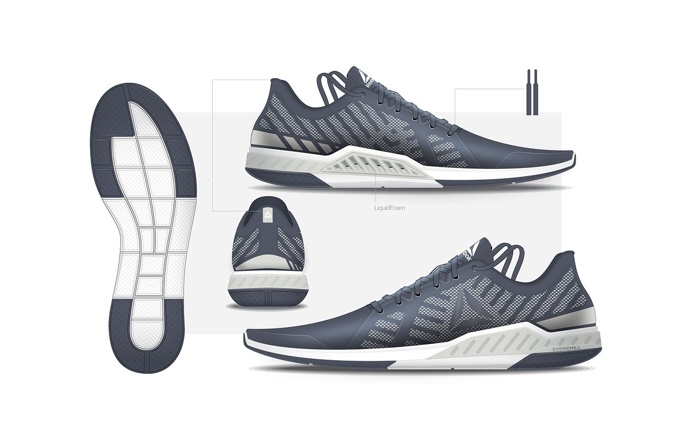 REEBOK EVERCHILL on Behance   Sepatu
