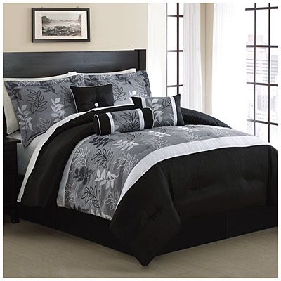 7 Piece Embroidered Queen Comforter Sets At Big Lots Comforter Sets King Size Comforters King Bedding Sets