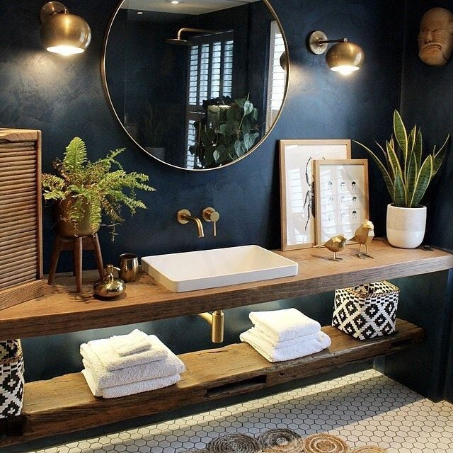 "Photo of Patch auf Instagram: ""Bathroom Goals Goals. 🌿. 🌺. 📷: The Restoration …,  #auf #bathroom #go…"