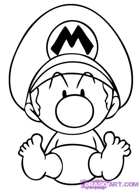How To Draw Baby Mario By Dawn Mario Coloring Pages Super Mario