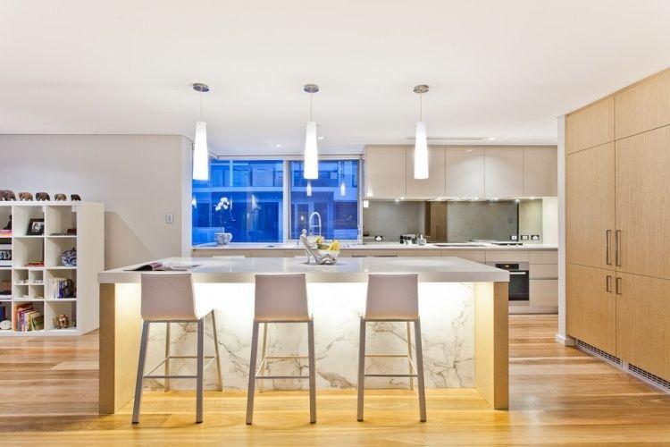 Weiße Marmor Küchen   75 Ideen Für Den Einsatz Von Marmor