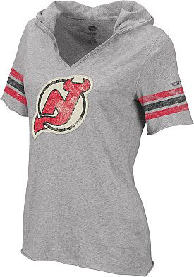 brand new 1c753 0650c Reebok New Jersey Devils Women's Classic Hooded T-Shirt ...