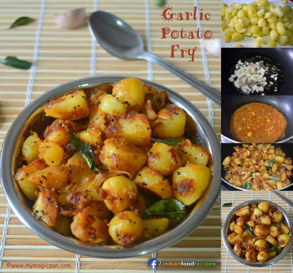 Easy garlic potato fry recipe step by step healthy dishes indian food recipes easy garlic potato fry recipe step by step forumfinder Image collections