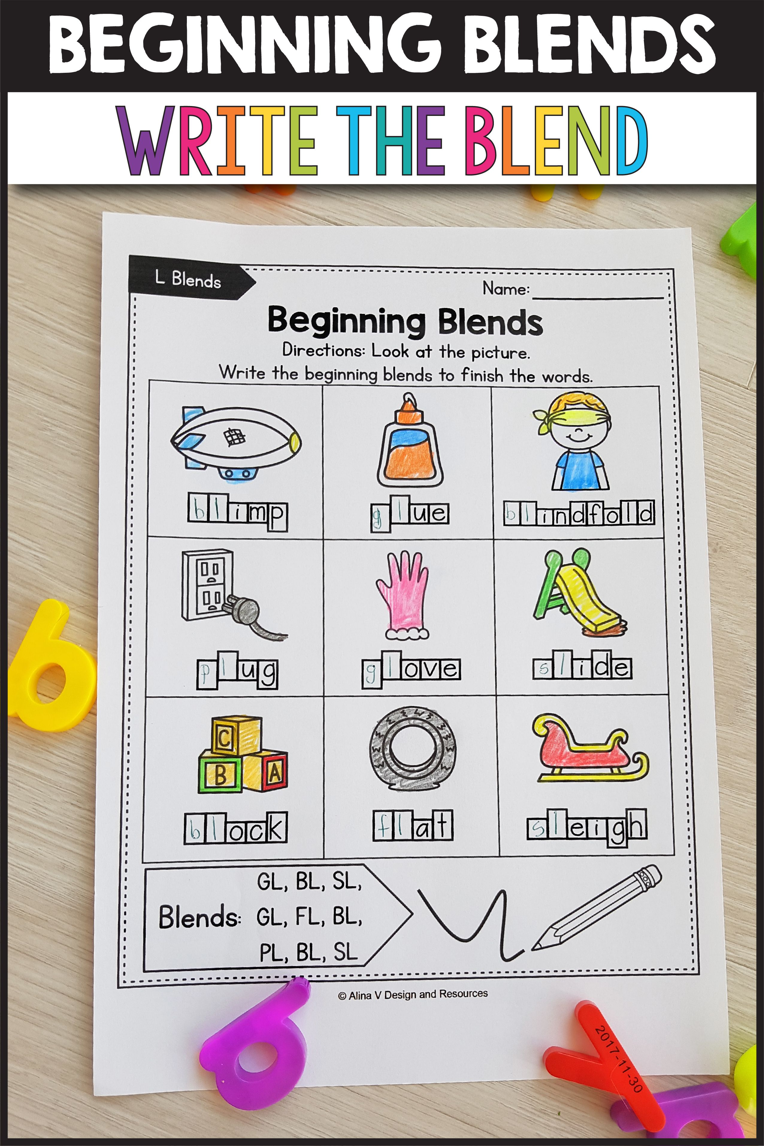 Beginning Blends Write The Missing Sounds Activities These Worksheets For Kindergarten And A Great Wa Blends Worksheets Phonics Activities Blends Activities [ 3826 x 2551 Pixel ]