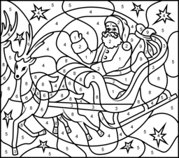Free Printable Christmas Color By Number Pages Merry Games Christmas Coloring Sheets Christmas Color By Number Christmas Tree Coloring Page