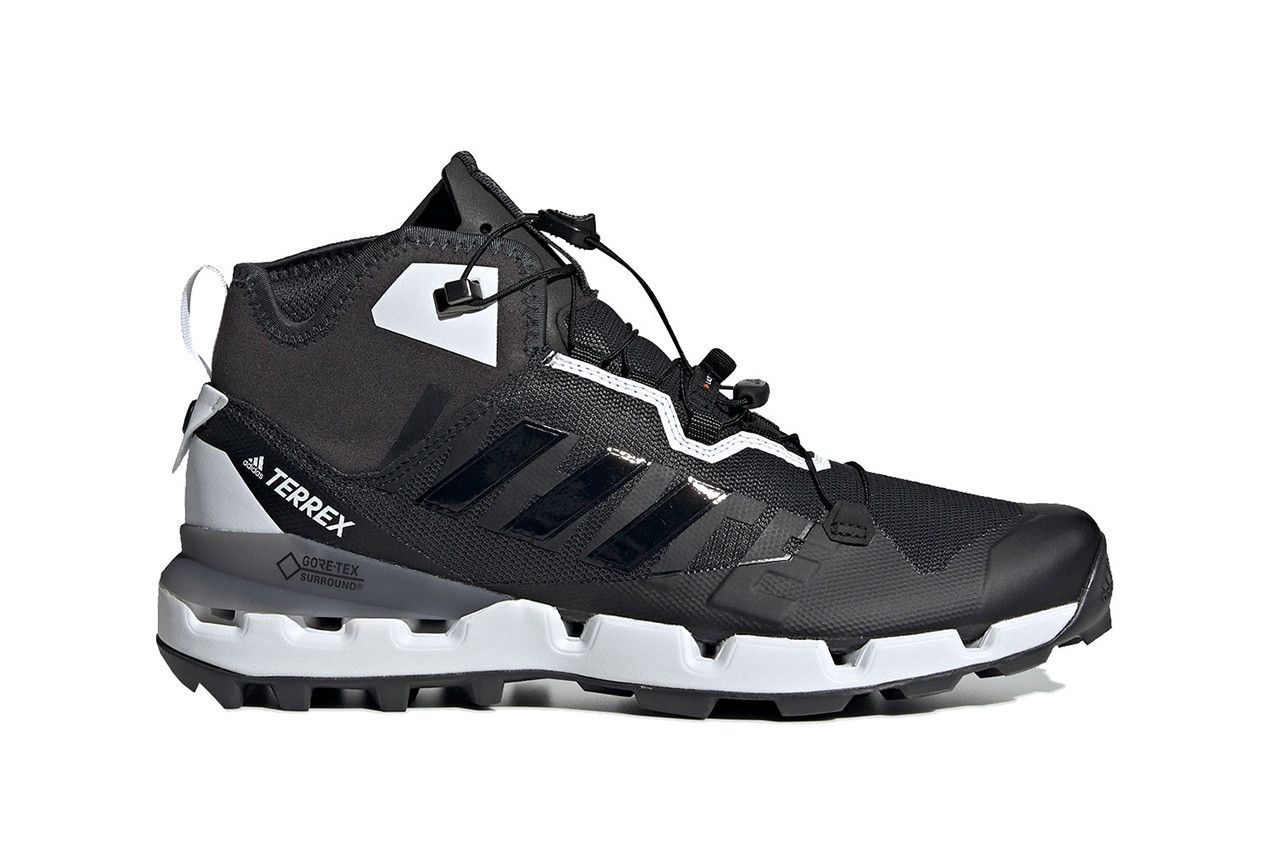 34f30107ac3 White Mountaineering x adidas Terrex Fast Release Date Shoes Trainers Kicks  Sneakers Cop Purchase Buy Black White Monochrome hiking trail technical