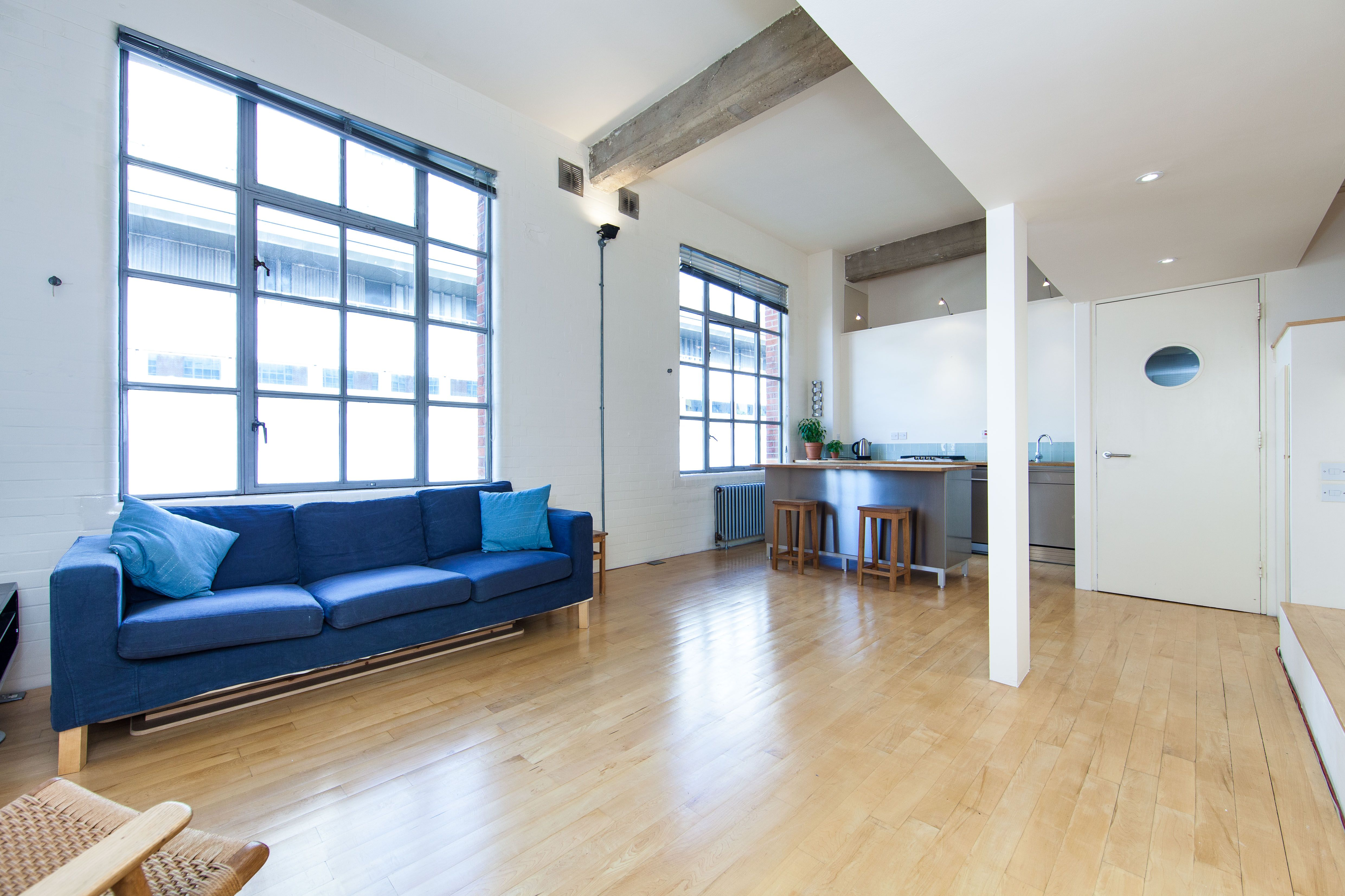 A large one bedroom loft on the