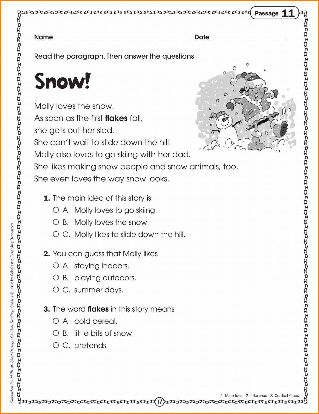 38 Innovative Reading Comprehension Worksheets Design Ideas Bacamajalah Comprehension Worksheets Reading Comprehension Worksheets Reading Comprehension Christmas comprehension worksheets 5th