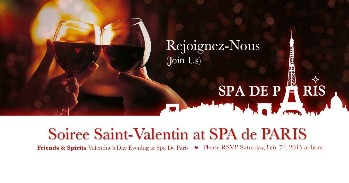 Bonne soiree de saint valentin at spa de paris relaxing