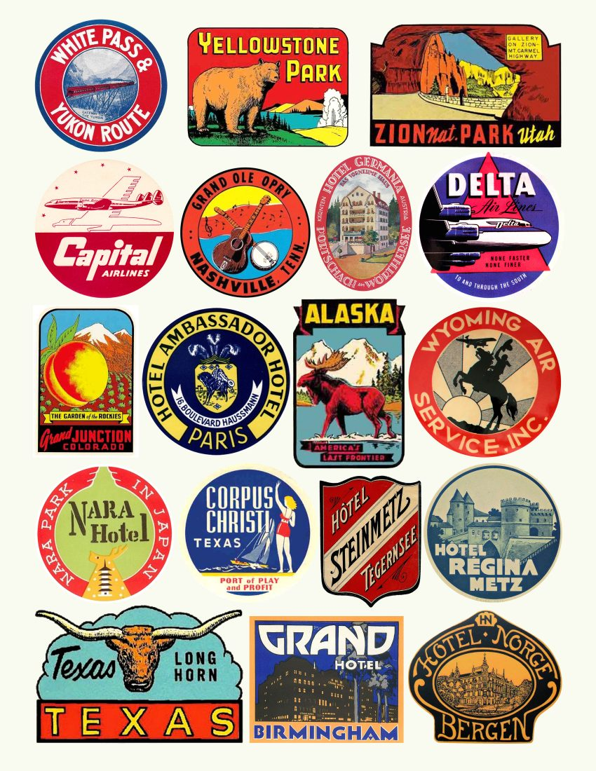 Amtrak Poster 5 Sizes Vinyl Sticker Patch Laptop Amtrak Window Decal