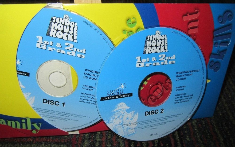 Details about School House Rock – 1st & 2nd Grade Essentials Game