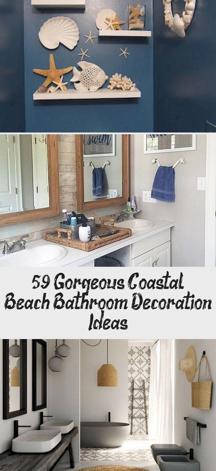 59 Gorgeous Coastal Beach Bathroom Decoration Ideas Decor Bathroom Beach Co Bathroom Beach Coasta Beach Bathrooms Beach Bathroom Decor Bathroom Decor