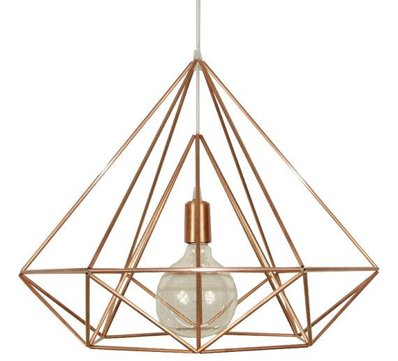Himmeli Light Diamond Cage Pendant Geometric Copper Matte Chandelier Industrial Pink Gold Origina Copper Ceiling Lights Himmeli Light Geometric Pendant Light