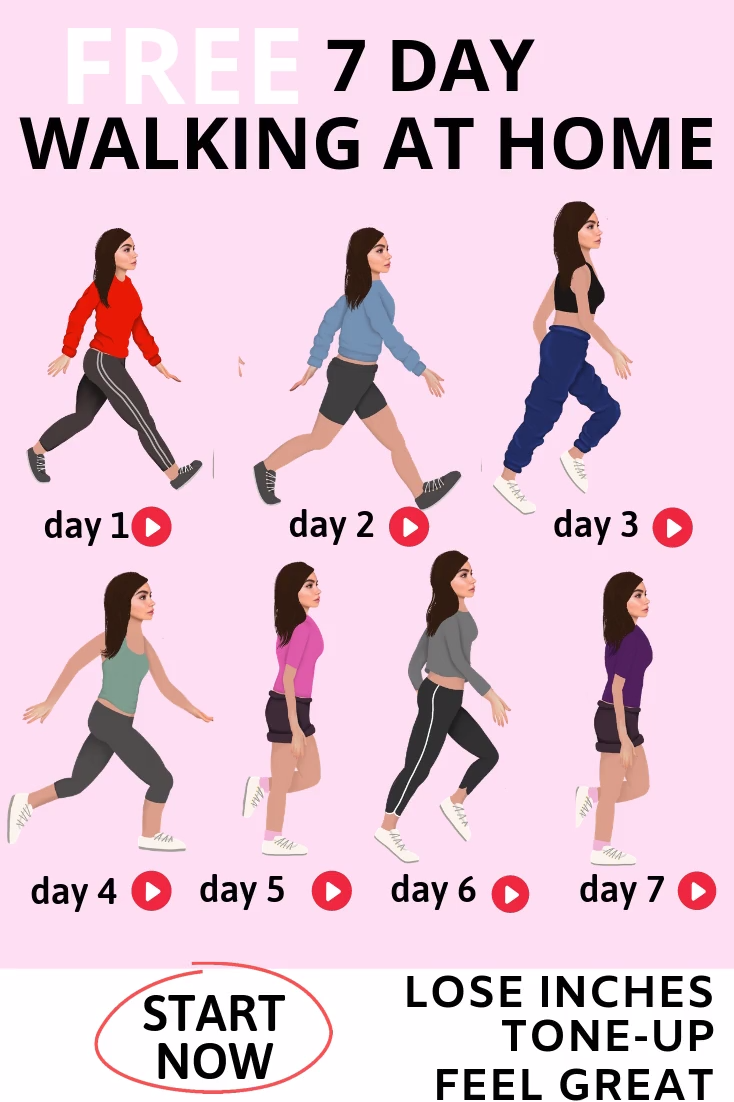 WEIGHT LOSS PLAN - 7 Day Free Home Fitness Exercise Video Plan  Free 7 Day at Home Weight-Loss Plan...