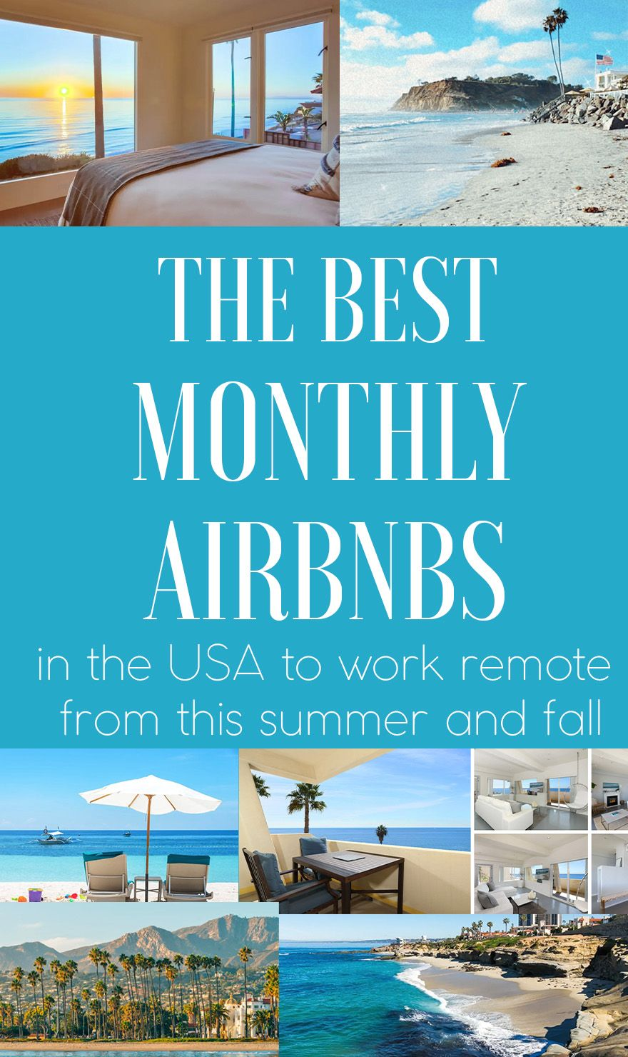 The Best Places In The Us To Airbnb For A Monthly Rental Or Remote Working Vacation In 2021 Jetsetchristina Magical Vacations Travel Remote Work Miami Travel Guide