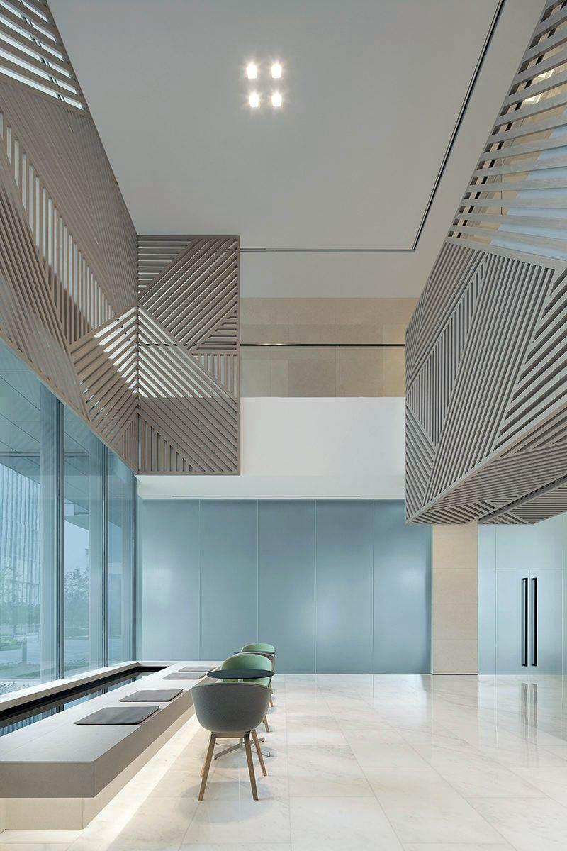 Inspiring Scandinavian Designs Teak Bookcase Only On This Page Lobby Design Hotel Lobby Design Lobby Interior Design