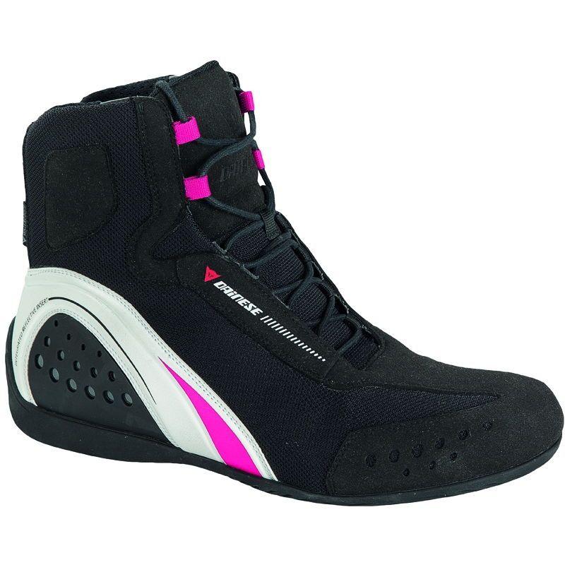 Piel aut/éntica Ladies Alta Largo Tobillo Botas de Moto Motocicleta Impermeable Mujeres Cruiser Zapatos de Carreras de Deporte