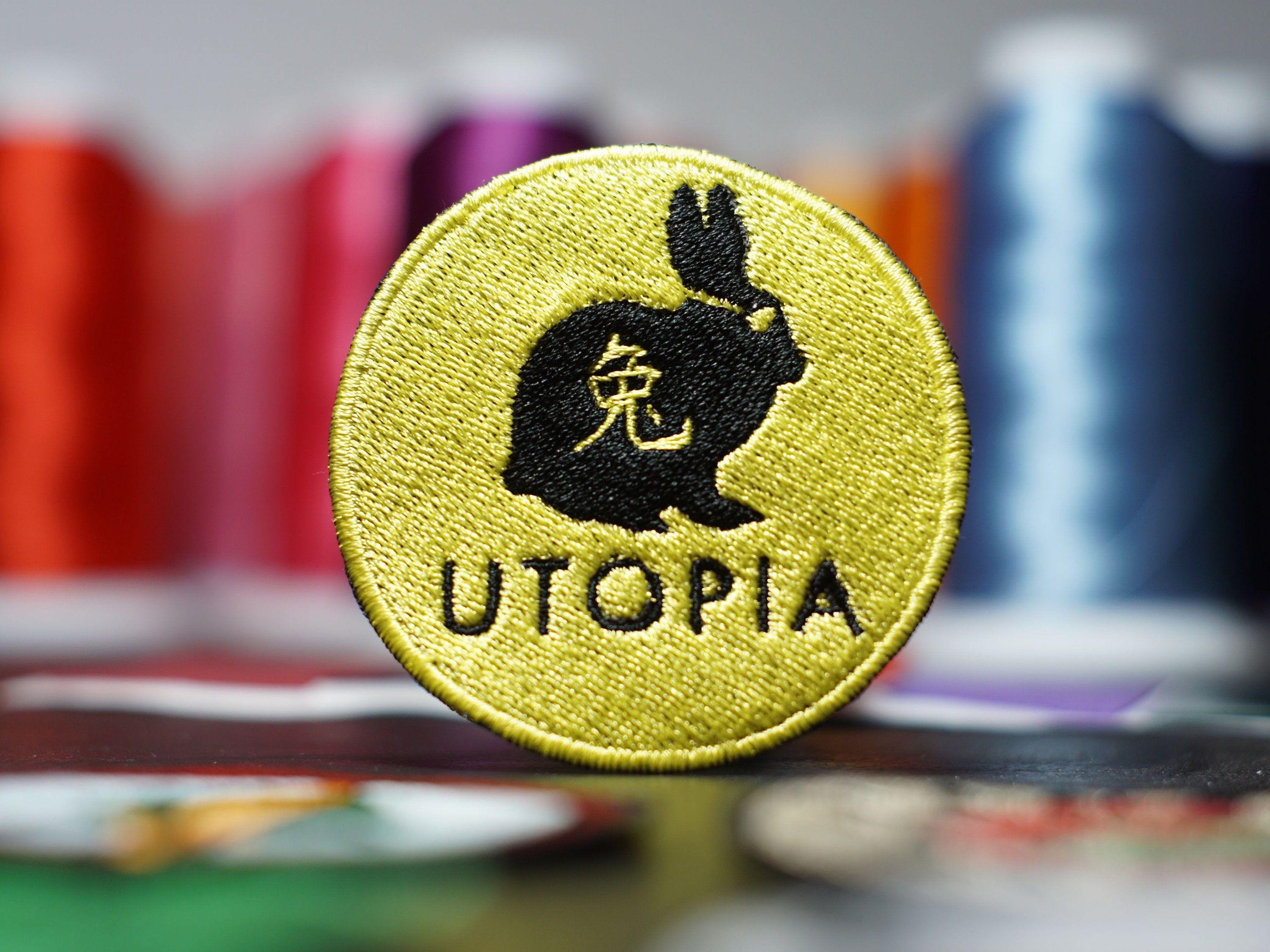 Utopia Rabbit Embroidery Patch Iron On Sew On 2020