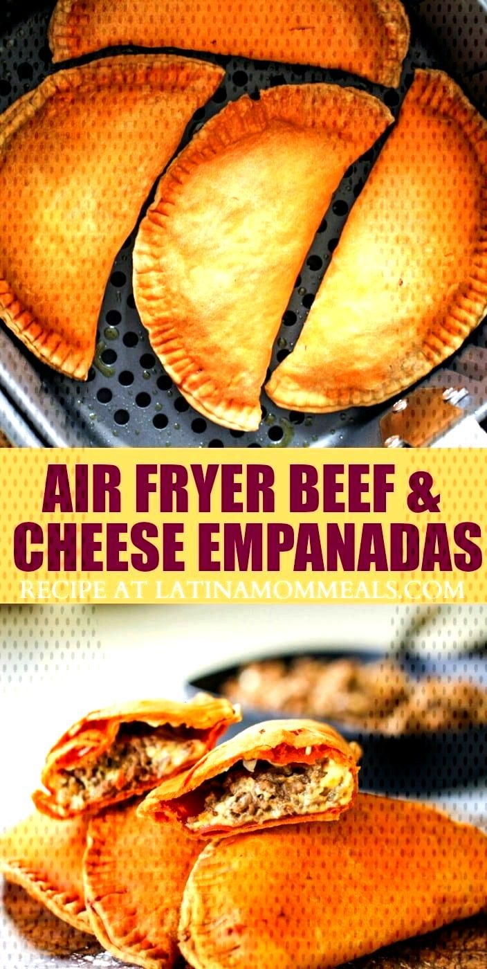 Cheesy beef pastelillos are easily made in the Air Fryer for a healthier empanada recipe that the w