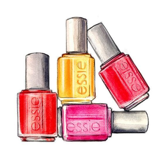 Bottle Art On Pinterest Essie Polish And Nail Polish Makeup Art Beauty Illustration