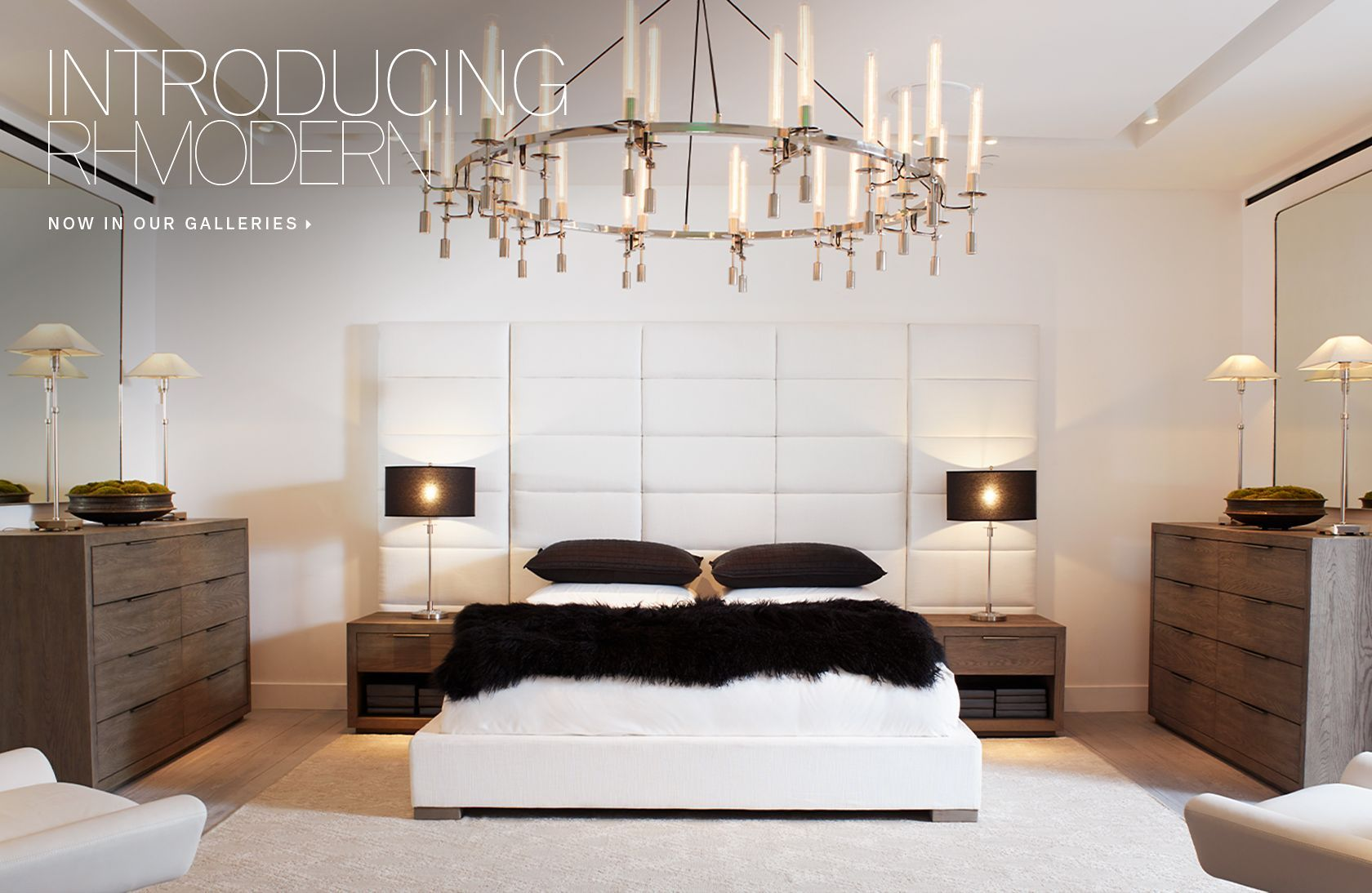 Introducing Rh Modern Now In Our Galleries Beautiful Houses Interior Rh Modern Modern Room