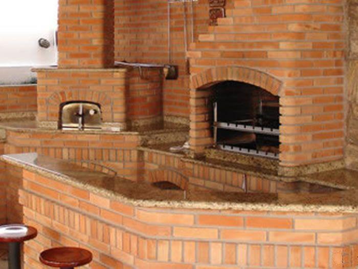 Churrasqueira e forno em tijolo palha - CA2