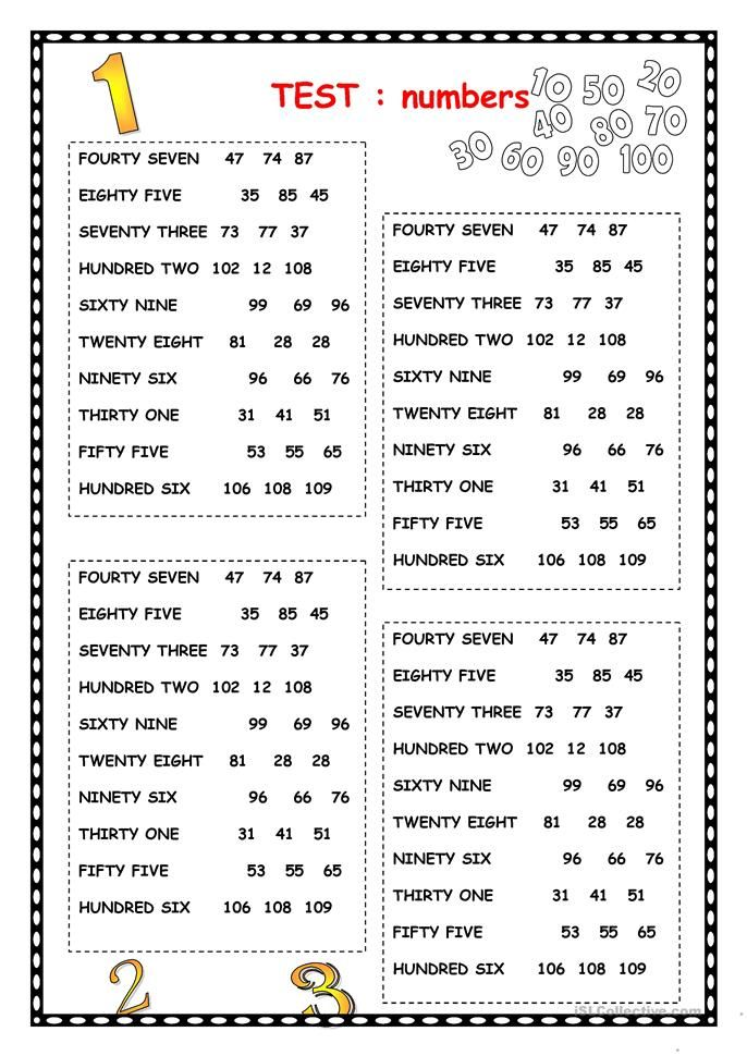 NUMBERS English Worksheets For Kids, Learning English For Kids, English  Language Teaching