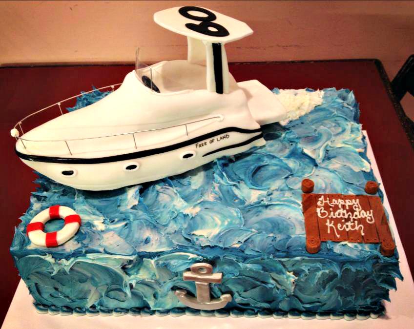 Th Birthday Cake Ideas Birthday Cakes Th Birthday Cakes And - Boat birthday cake ideas