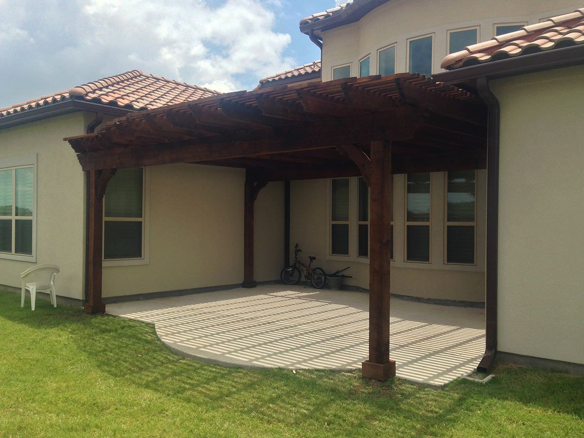 how to build a pergola on a deck attached to a house