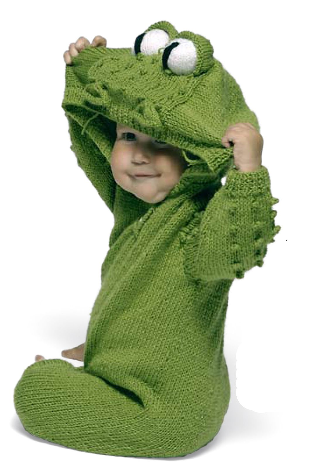If you can knit...here s a frog suit baby pattern! 9b2d7c93e1d