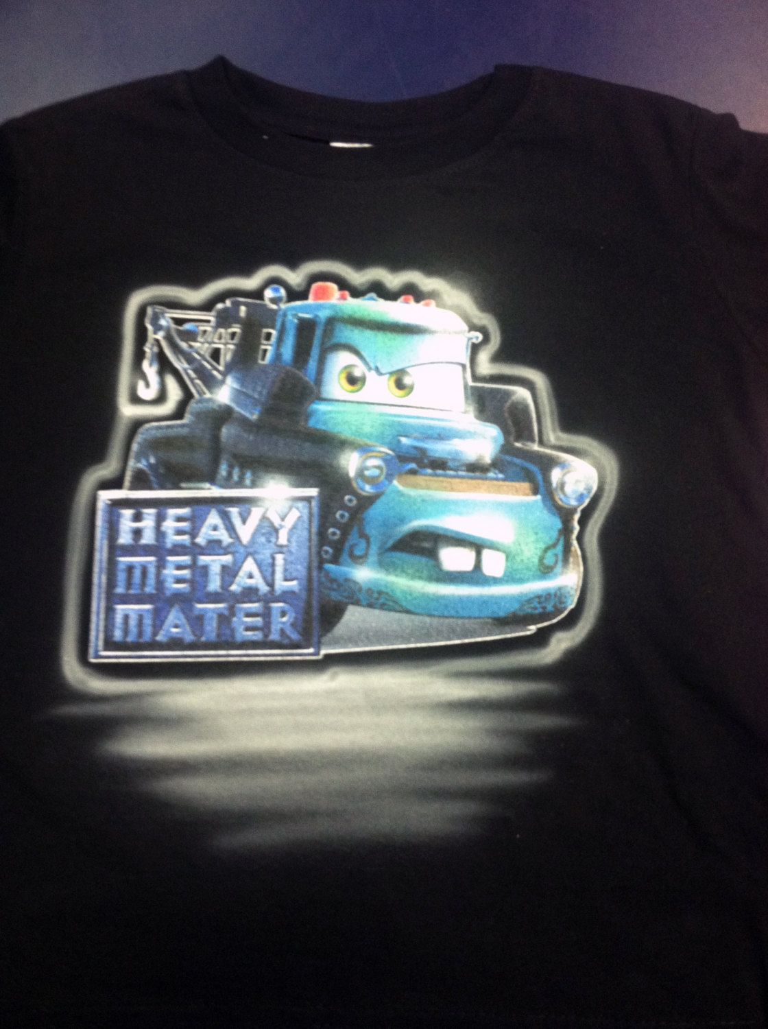 Custom Airbrushed Heavy Metal Tow Mater Shirt by