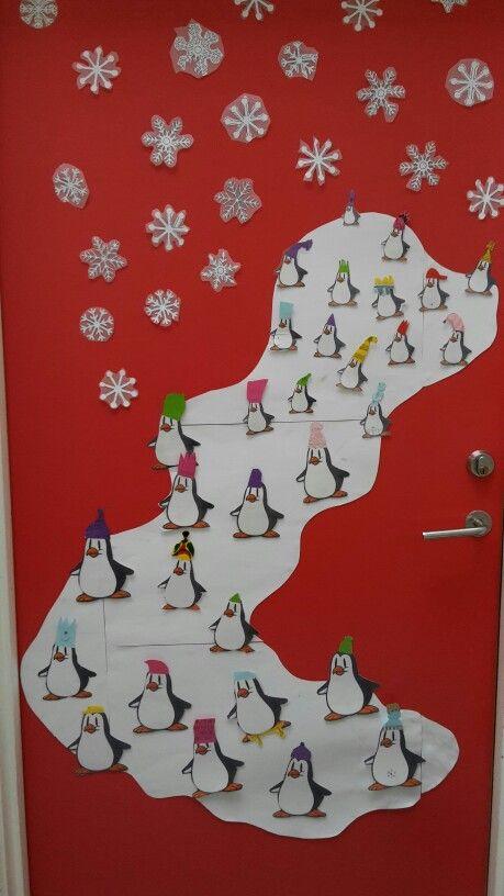 Pingviner på kælkebakken
