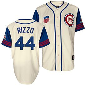 3eaae31f791 Get this Chicago Cubs Anthony Rizzo Wrigley Field 100 Year 1942 Throwback  Replica Jersey at WrigleyvilleSports.com
