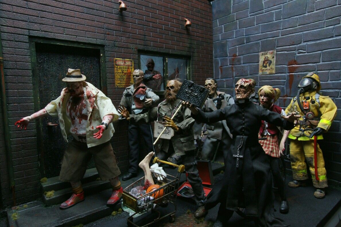 Zombies Custom Build Diorama Action Figures 1 6 Scale Kitbash Post Apocalypse The Dead Subject Sideshow Collectables Zombie Art Post Apocalypse Action Figures