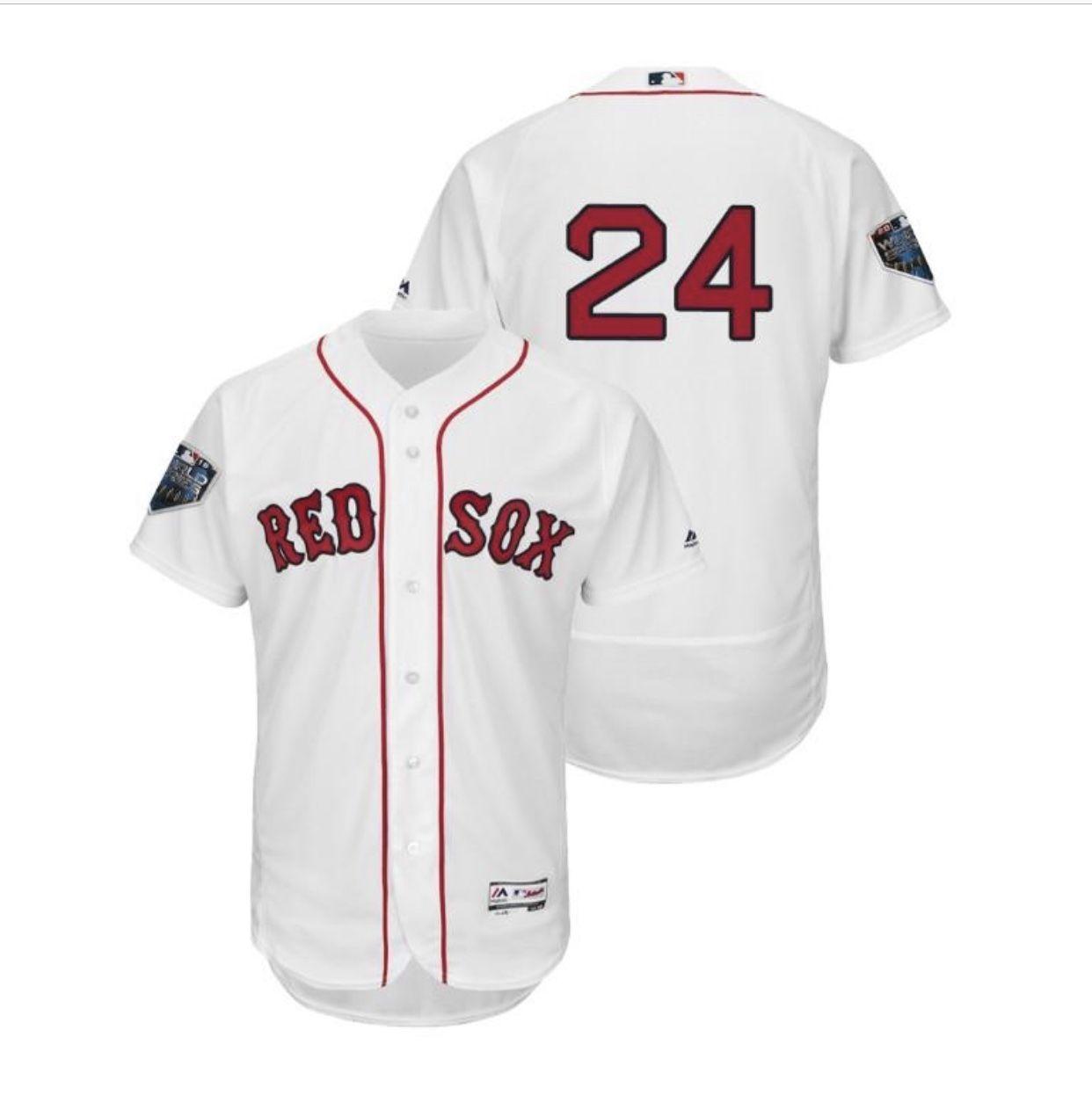 5938f88ea3d 2018 World  Series Boston Red Sox White  24 David  Price Flex Base Jersey