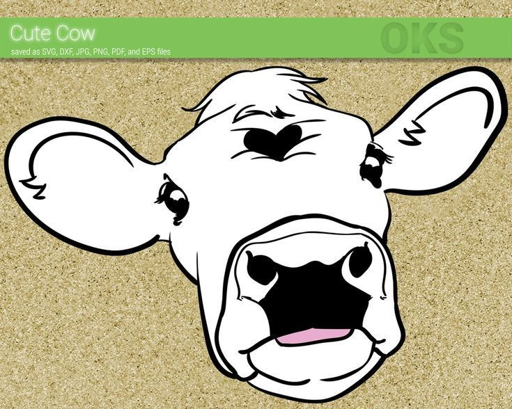 FREE Cute Cow svg, dxf, vector, eps, clipart, cricut