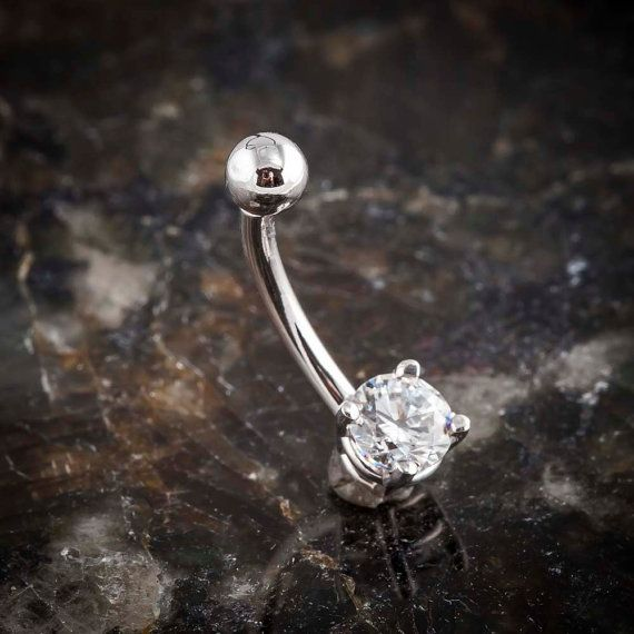 14K WHITE GOLD NAVEL JEWELRY Show the world what youre made of by