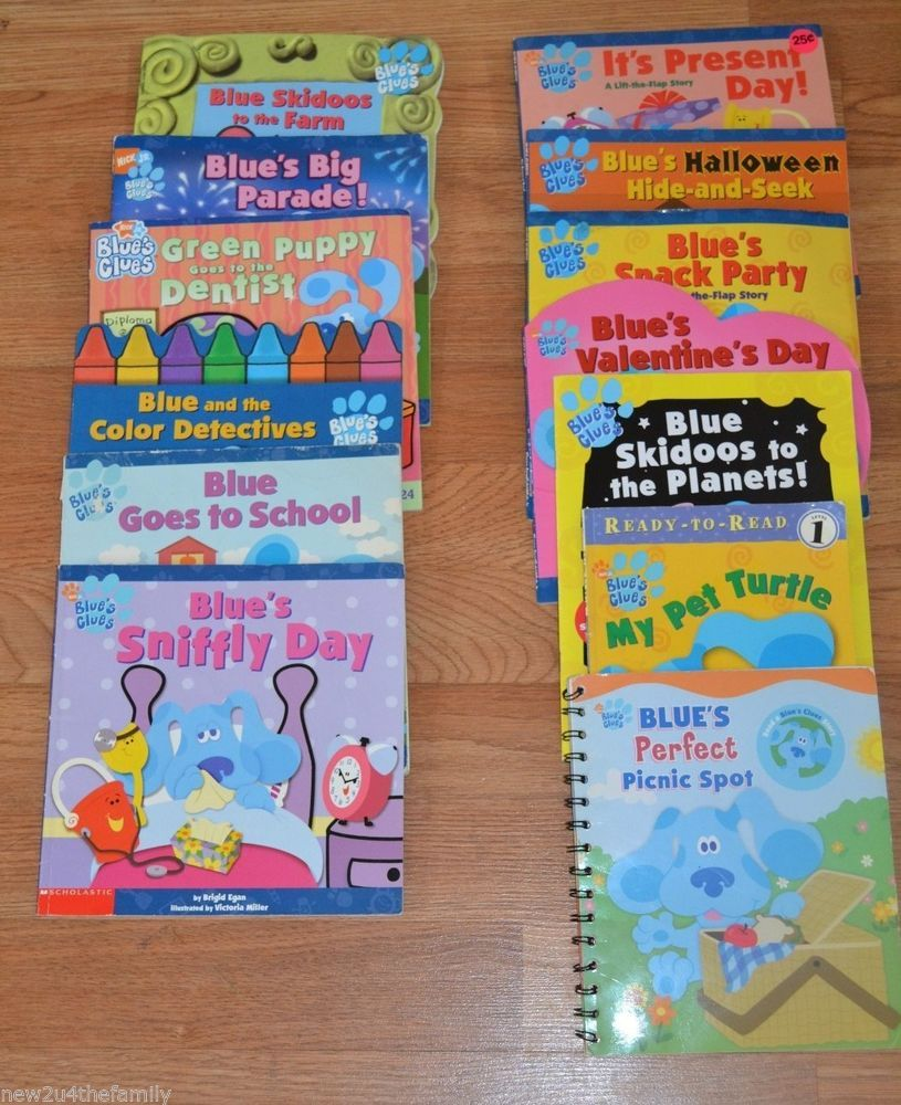 Blues Clues Picture Book Lot Of 13 Learn To Read Nick Jr Paperback Children Adults Books Preschool Christmas Paperbacks