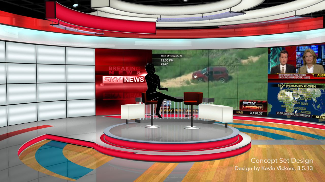 Concept Set Design (Breaking News) by Kevin Vickers The