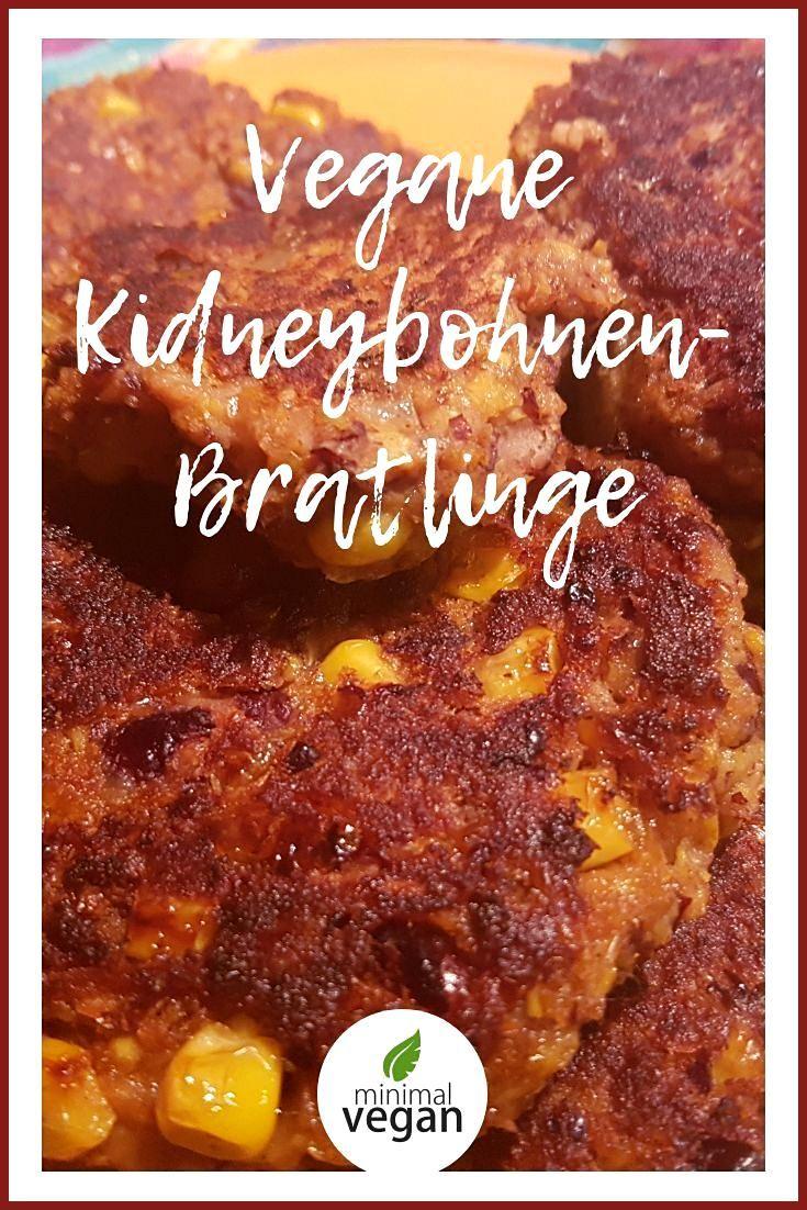 Rezept für Bratlinge oder auch Burgerpatties mit Kidneybohnen und Mais – vegan … #auch #Bratlinge #B...