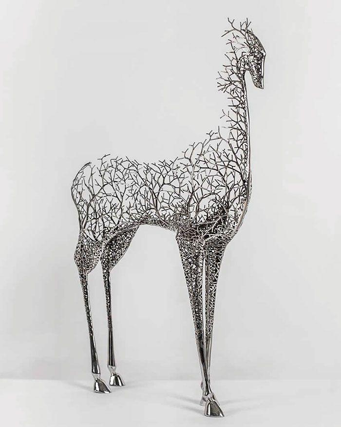 Kang Dong Hyun Delicate Metal Sculpture Animals Pay