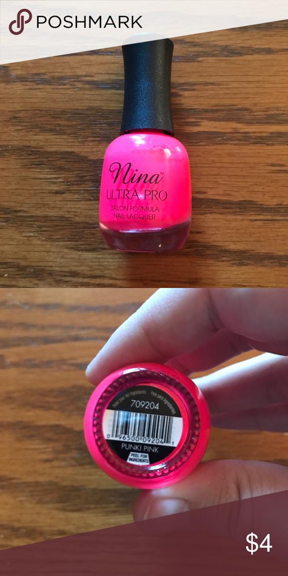 Nina Ultra Pro nail polish in Punki pink Barely used. Nina Makeup ...