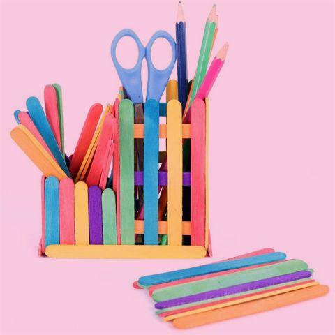 Ice Cream Sticks Pencil Box #upcycle #stationary