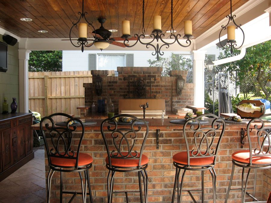 Outdoor Covered Patios | Outdoor Bar | Genie Backyard And Patio