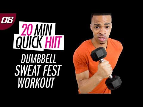 20 Min. Dumbbell Cardio Sweat Fest Workout | 20 Min. Quick HIIT #08 - YouTube