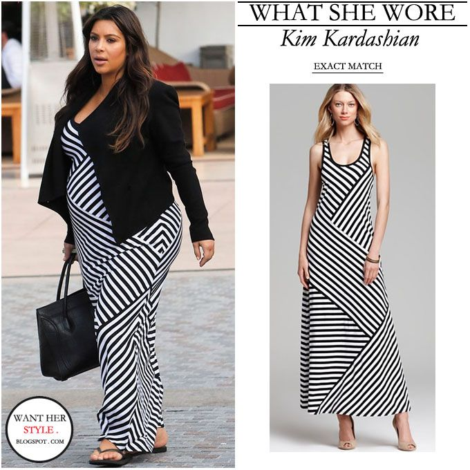 Dress maxi dresses black striped