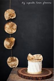 la decoración de mis mesas: Flores con moldes de magdalenas