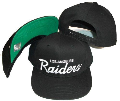 Los Angeles Raiders Black Plastic Snapback Adjustable Plastic Snap Back Hat    Cap by Reebok.  11.04. NFL LA Raiders Black White Snapback Vintage Old  School ... 42cc5bff5