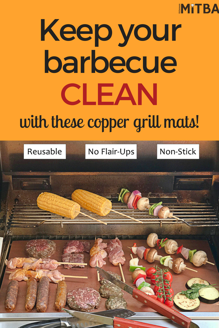 Copper Grill Mats By Mitba Best Baking Grilling Accessories Ever These Non Stick Reusable Magic Gadgets Will Get You Grilling Grill Accessories Barbecue